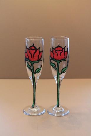 Rose Champaign Flutes