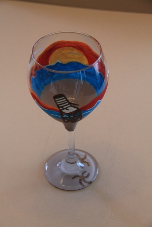 Beach Wine Glass